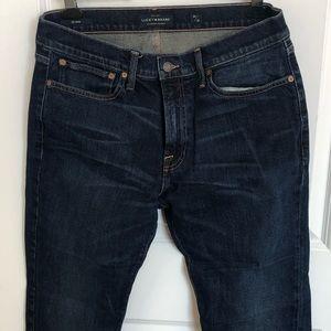 Men's Lucky Brand jeans; Heritage Slim 121; 34/32